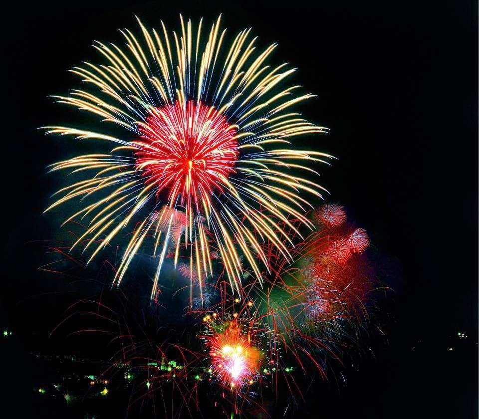 Spettacolo di fuochi d'artificio